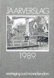 Jaarboek VOM-1989 - Vereniging Oud Monnickendam