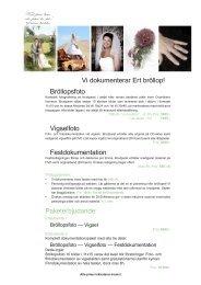 Vi dokumenterar Ert bröllop! Bröllopsfoto Vigselfoto ... - Mediastudion