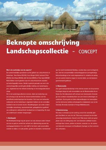 beknopte omschrijving (in concept) - Landschapsmanifest