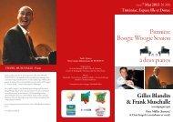 Boogie Woogie Session à deux pianos Première