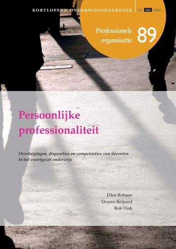 Persoonlijke professionaliteit - Kortlopend Onderwijsonderzoek