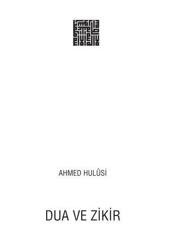 Dua Ve Zikir – PDF - ahmed hulusi web sitesi - download