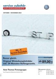 Besser gleich: Original Winterkompletträder inkl ... - bei Auto Thomas