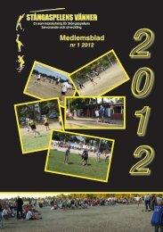 Medlemsblad nr 1 2012 i PDF-format. - Stångaspelen