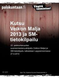 Kutsu Veikon Malja 2013 ja SM- tietokilpailu - Palokuntaan.fi
