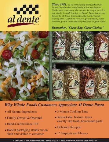 Why Whole Foods Customers Appreciate Al Dente Pasta