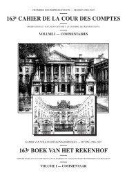163e BOEK VAN HET REKENHOF - Cour des comptes