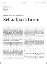 Schaalpartituren - Nieuw Archief voor Wiskunde
