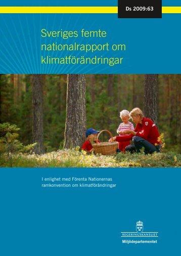 Sveriges femte nationalrapport om klimatförändringar ... - Regeringen