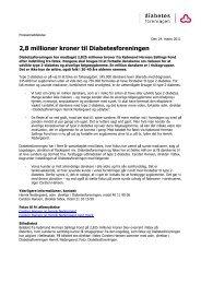 2,8 millioner kroner til Diabetesforeningen