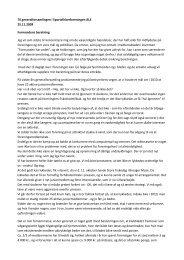 Formandens beretning til generalforsamlingen 2009
