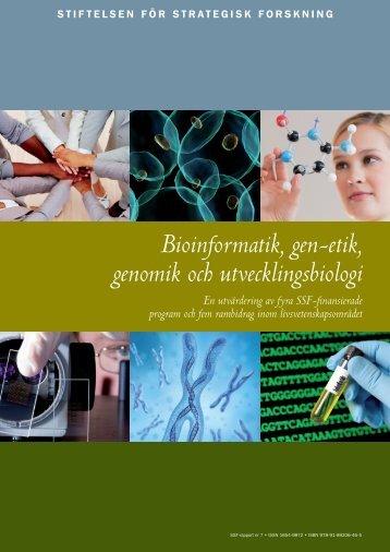 Bioinformatik, gen-etik, genomik och utvecklingsbiologi