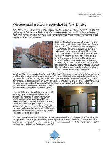 Videoovervågning skaber mere tryghed på Ydre Nørrebro - Milestone