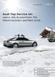 Audi Top Service ist: wenn die Aussichten für ... - bei Auto Thomas