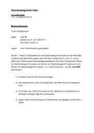 Oberlandesgericht Celle B e s c h l u s s