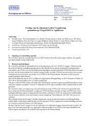 Verslag van de ALV 2012 - eTNOs
