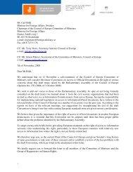 Info Commissioners letter Carl Bildt 11 Nov 2008