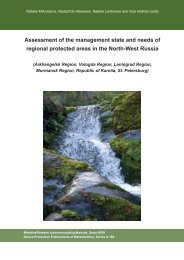 Assessment of the management state and needs of regional ...