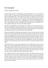 Om Smålighed - Gult Holds Wiki