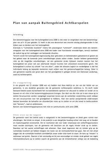 Bijlage Plan van Aanpak bestemmingsplan Buitengebied - Raad ...