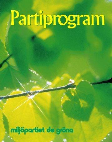 Partiprogram 1997 - Miljöpartiet de gröna