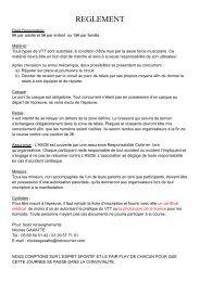 REGLEMENT - Association Sportive et Culturelle de Ban de Laveline