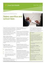 Salary sacrifice and school fees - Crowe Horwath International