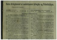 Fabriksloven fra 1901