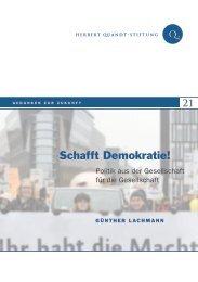 Schafft Demokratie! - Herbert-Quandt-Stiftung