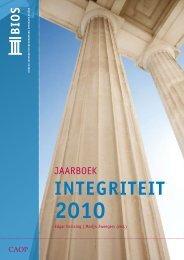 Het jaarboek integriteit 2010 - BIOS