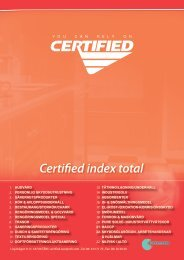 Certified index total