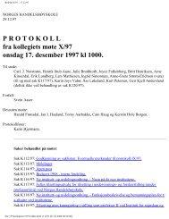 P R O T O K O L L fra kollegiets møte X/97 onsdag 17 ... - NHH