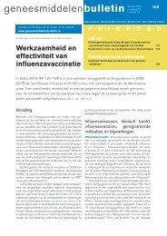 Werkzaamheid en effectiviteit van influenzavaccinatie - Zembla