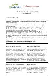 Gemeentelijke Academie Muziek en Woord Filiaal Kapellen ...