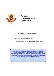 Federale Overheidsdienst FINANCIEN - FOD Financiën
