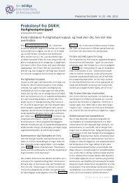 Praksisnyt nr. 23 om hurtighedsprincippet - DUKH