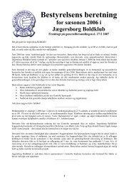 Årsberetning 2006 - Jægersborg Boldklub