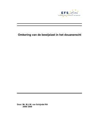Omkering van de bewijslast in het douanerecht - Europese Fiscale ...