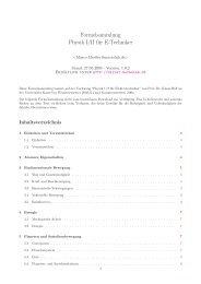 Formelsammlung Physik I/II für E-Techniker - MacroLab