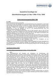 Gesetzliche Grundlagen der Zukunftssicherung, Stand 01.08.2008
