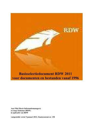 Selectielijst RDW stcrnt 2012 150 - Nationaal Archief