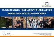 hvilken rolle tildeler gymnasieelever deres - Aarhus Universitet