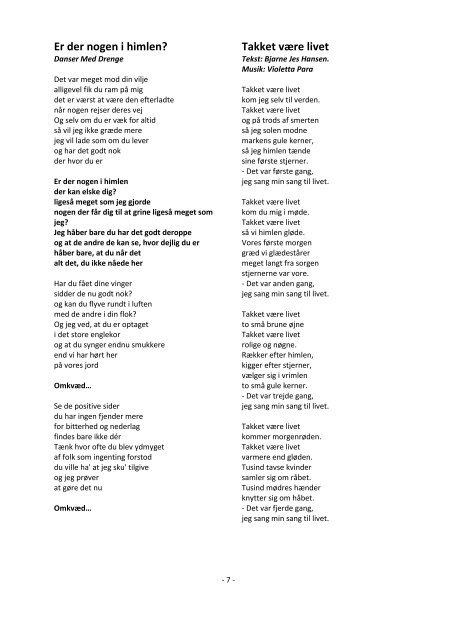 ikke-religiøse sange til inspiration - Farvel Jord