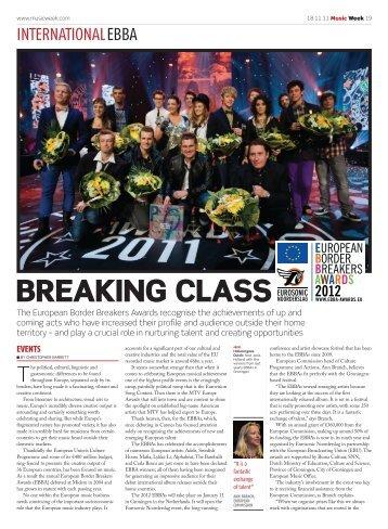 BREAKING CLASS - EuroSonic en Noorderslag