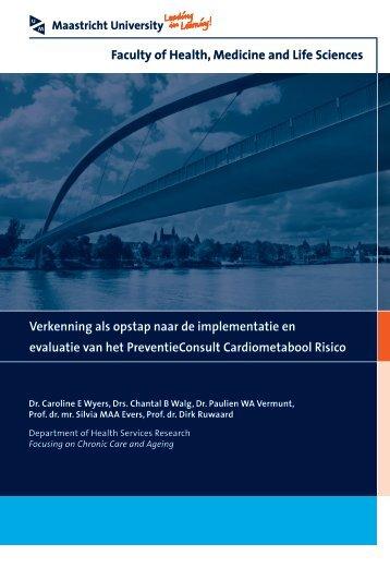 Verkenning als opstap naar de implementatie en evaluatie van het ...