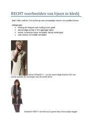 RECHT voorbeelden van lijnen in kledij - Femma