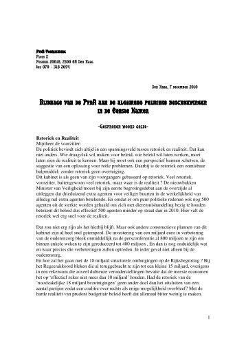 Download hier mijn volledige bijdrage aan het debat (pdf) - PvdA