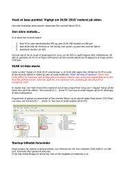 Husk at læse punktet 'Vigtigt om DLSK 2010' nederst på siden. Den ...