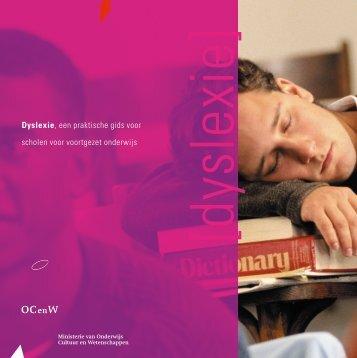 Dyslexie - een praktische gids voor scholen voor ... - Kennisnet