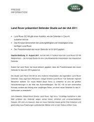 Land Rover präsentiert Defender Studie auf der IAA 2011 - Auto Stahl